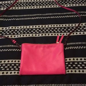 Bright pink crossbody bag